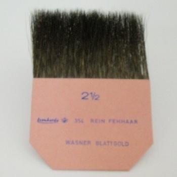 "Gilder's tip, pure squirrel hair, width 2 1/2 """