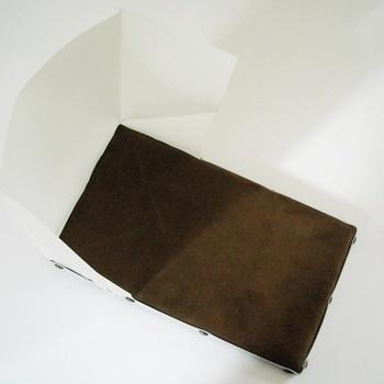 coussin à dorer avec coupe vent 30 x 20 cm