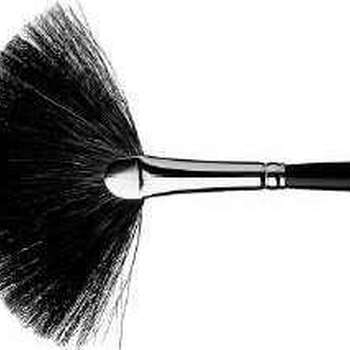 Fan brush, pure squirrel hair, large, hair lenght ca.31 mm
