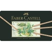 Pastelpotloden Faber Castell Pitt assortiment in metalen etui met 36 kleuren-en