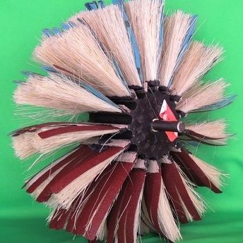 brosses de ponçage avec chiendent pour foreuse grains 80