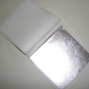 Bladzilver zonder transfert per 250 vellen 9,5 x 9,5 cm